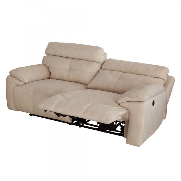 Sofá 3 plazas con relax eléctrico tapizado en tela - MERKAHOME.COM