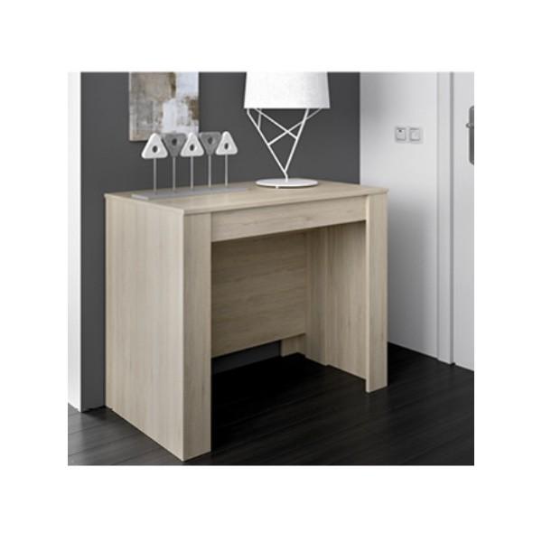 Mesa de comedor extensible barata blanco y gris Katy - MERKAHOME.COM