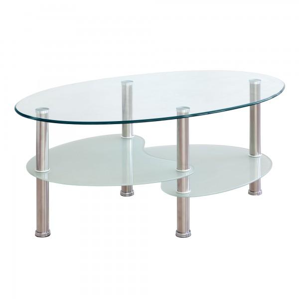 Mesa de centro tapa de cristal y patas cromadas merkahome com for Patas para mesa de centro