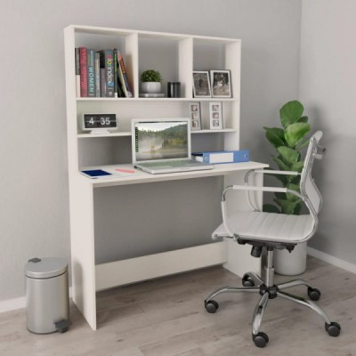 ESCRITORIO CON ESTANTERIA BLANCO 110 CM ALTEA