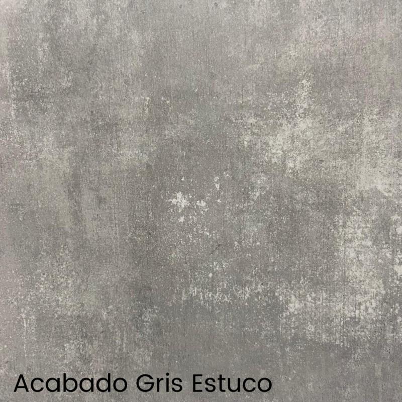 MESA DE COMEDOR EXTENSIBLE GRIS Y ROBLE 188x88 CM LISBOA