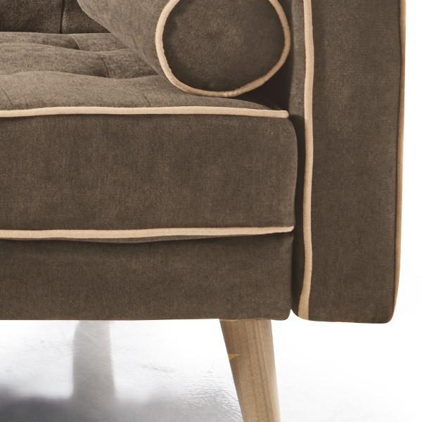 Sofa cama clic clac marron con capitone 212 cm noris de for Sofa cama clic clac ikea