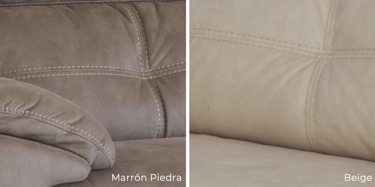 Sofá de 2 plazas relax Roma disponible en color marron o beige
